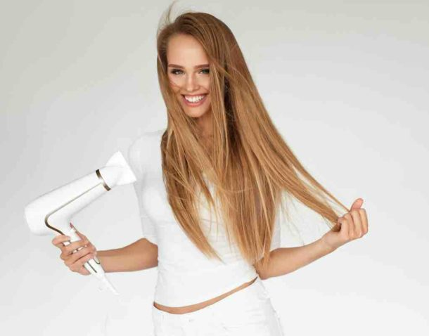 hair extensions straight hair using hairdryer blonde hair